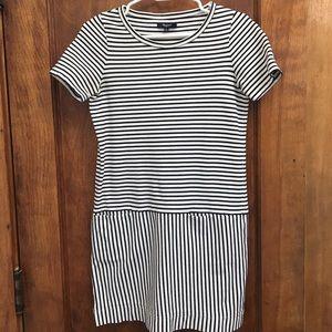 Madewell striped shift t-shirt dress